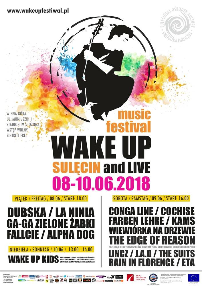 Wake Up and Live Music Festiwal – 08-10.06.2018 r.